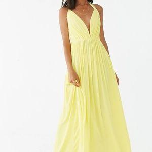 Chiffon Billowy Halter Dress